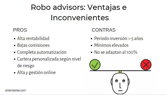 pros contras invertir roboadvisors